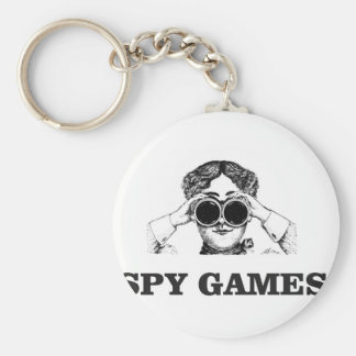 spy games yeah basic round button keychain