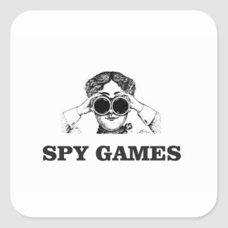 spy games yeah square sticker