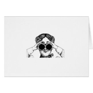 spy girl picture card