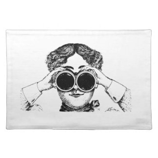 spy girl picture placemat