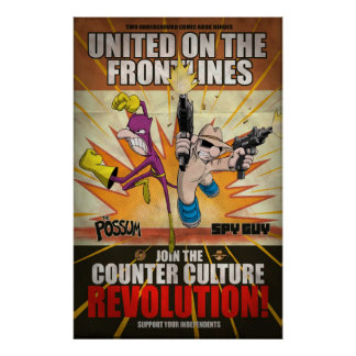 Spy Guy/Possum - Counter Culture Revolution poster