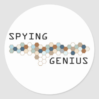 Spying Genius Round Stickers
