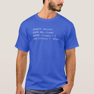 SQL Shirt - Blue