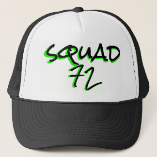 Squad72 72marketing trucker hat neon green black