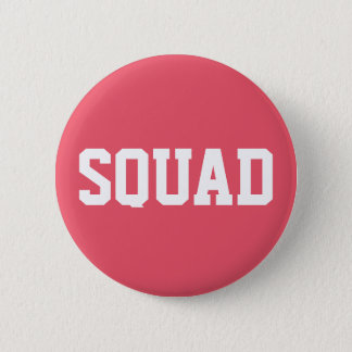 Squad Coral Pink & White 2 Inch Round Button