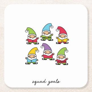 Squad Goals Christmas Coasters