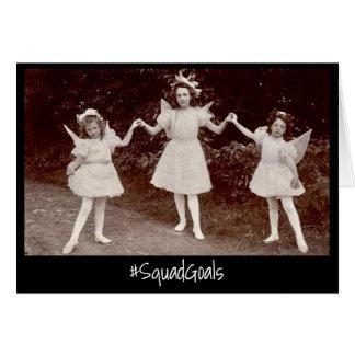 Squad Goals Woodland Fairy Faerie Princess Trio Card