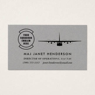Squadron Patch C-130 Hercules Professional Pilot Business Card