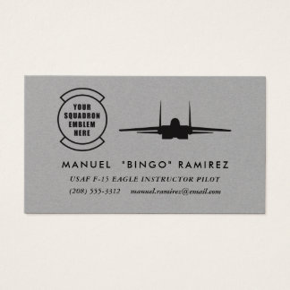 Squadron Patch F-15 Eagle Professional Pilot Business Card