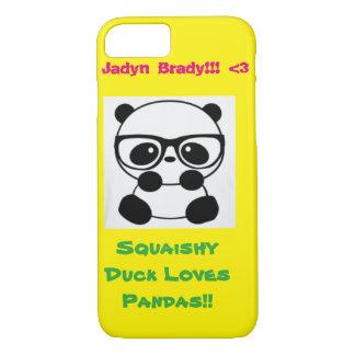 Squaishy Duck Loves Pandas! iPhone 7 Case