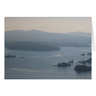 Squam Lake NH in early Autumn Greeting Card