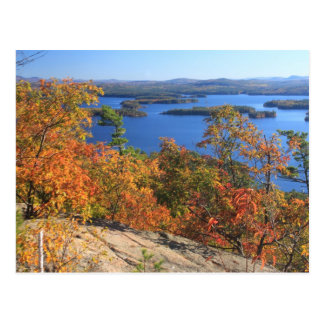Squam Lake Rattlesnake Cliffs in Autumn Postcard