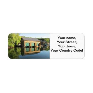 Squam River Boathouse Return Address Label