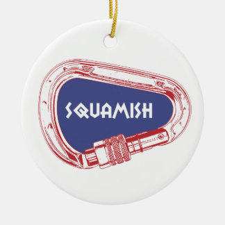 Squamish Climbing Carabiner Ceramic Ornament