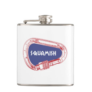Squamish Climbing Carabiner Hip Flask