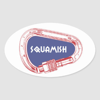 Squamish Climbing Carabiner Oval Sticker