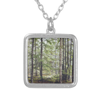 Squamish Forest Floor Silver Plated Necklace