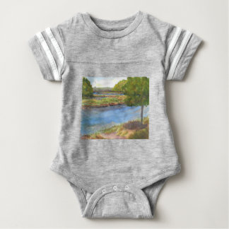 squamscott river at newfields july 31 2015 baby bodysuit