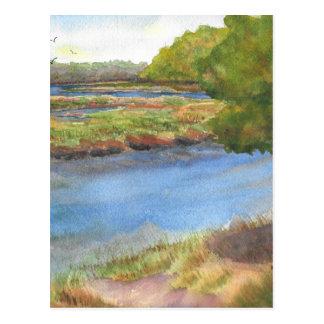 squamscott river at newfields july 31 2015 postcard