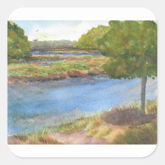 squamscott river at newfields july 31 2015 square sticker