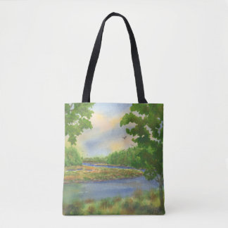 Squamscott River Newfields NH Totebag Tote Bag