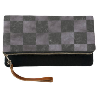 SQUARE1 BLACK MARBLE & BLACK WATERCOLOR CLUTCH