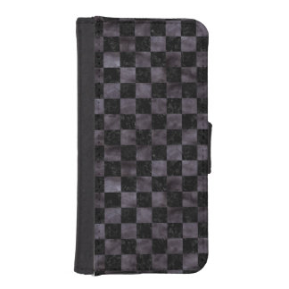SQUARE1 BLACK MARBLE & BLACK WATERCOLOR iPhone SE/5/5s WALLET CASE