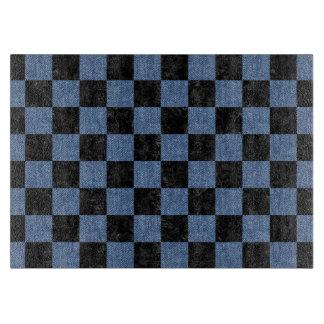 SQUARE1 BLACK MARBLE & BLUE DENIM CUTTING BOARD