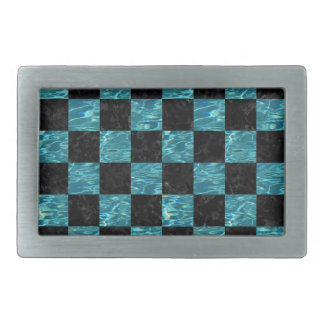 SQUARE1 BLACK MARBLE & BLUE-GREEN WATER BELT BUCKLE