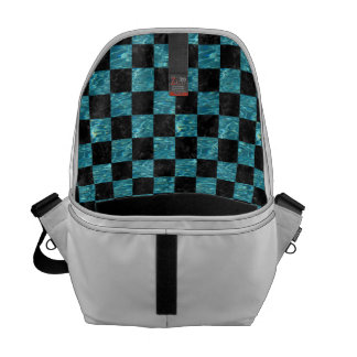 SQUARE1 BLACK MARBLE & BLUE-GREEN WATER COURIER BAG