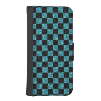 SQUARE1 BLACK MARBLE & BLUE-GREEN WATER iPhone SE/5/5s WALLET CASE