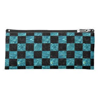 SQUARE1 BLACK MARBLE & BLUE-GREEN WATER PENCIL CASE