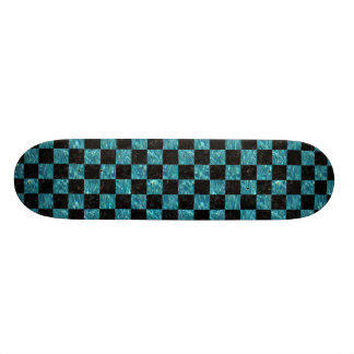 SQUARE1 BLACK MARBLE & BLUE-GREEN WATER SKATE BOARD DECKS