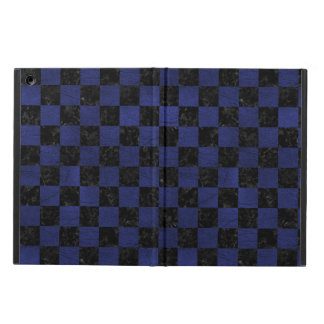SQUARE1 BLACK MARBLE & BLUE LEATHER CASE FOR iPad AIR