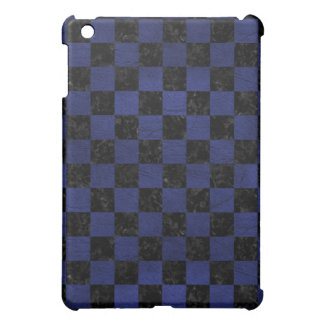 SQUARE1 BLACK MARBLE & BLUE LEATHER COVER FOR THE iPad MINI
