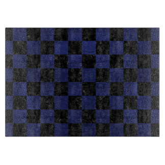 SQUARE1 BLACK MARBLE & BLUE LEATHER CUTTING BOARD