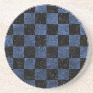 SQUARE1 BLACK MARBLE & BLUE STONE COASTER