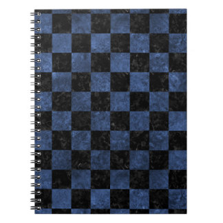SQUARE1 BLACK MARBLE & BLUE STONE SPIRAL NOTEBOOK