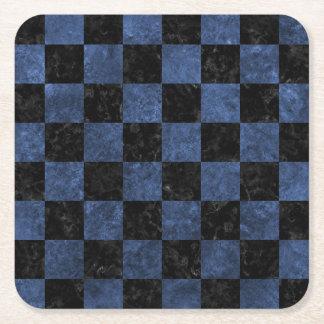SQUARE1 BLACK MARBLE & BLUE STONE SQUARE PAPER COASTER