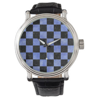 SQUARE1 BLACK MARBLE & BLUE WATERCOLOR WATCH
