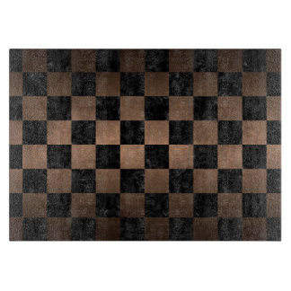 SQUARE1 BLACK MARBLE & BRONZE METAL BOARDS