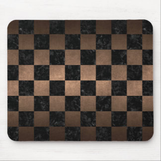 SQUARE1 BLACK MARBLE & BRONZE METAL MOUSE PAD