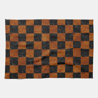 SQUARE1 BLACK MARBLE & BROWN MARBLE KITCHEN TOWEL