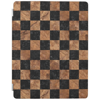 SQUARE1 BLACK MARBLE & BROWN STONE iPad COVER