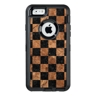SQUARE1 BLACK MARBLE & BROWN STONE OtterBox iPhone 6/6S CASE