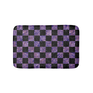 SQUARE1 BLACK MARBLE & PURPLE MARBLE BATHROOM MAT