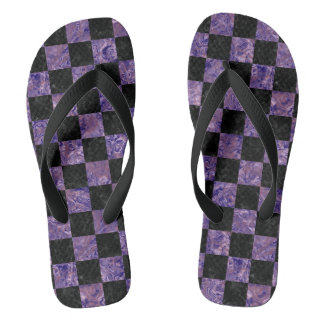 SQUARE1 BLACK MARBLE & PURPLE MARBLE FLIP FLOPS