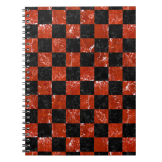 SQUARE1 BLACK MARBLE & RED MARBLE NOTEBOOKS