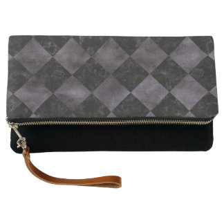 SQUARE2 BLACK MARBLE & BLACK WATERCOLOR CLUTCH