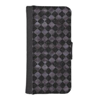 SQUARE2 BLACK MARBLE & BLACK WATERCOLOR iPhone SE/5/5s WALLET CASE